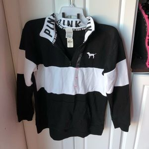 NWT Victoria Secret pink XS color block sweatshirt